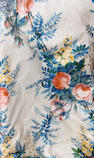 A group of six floral chintz drapery panels
