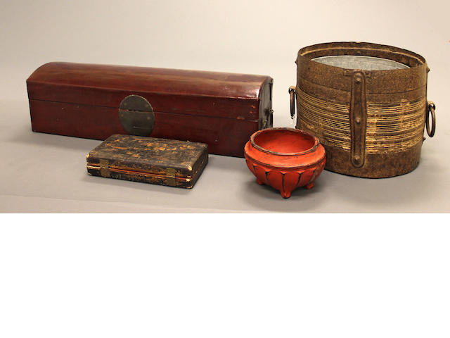 A group of Asian storage containers 19th/20th century