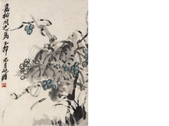 Zhu Qizhan (1892-1996) Grapes