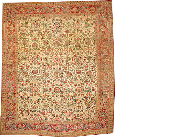 A Hadji Jalili Tabriz carpet  Northwest Persia size approximately 11ft. 4in. x 13ft. 8in.