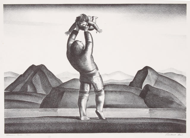 Rockwell Kent (2), Greenland Mother and Child; Sophia.  Lithographs