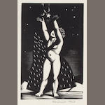 Rockwell Kent, Child and Star, wood engraving