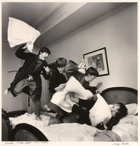Harry Benson (born 1929); Beatles Pillow Fight, Paris;
