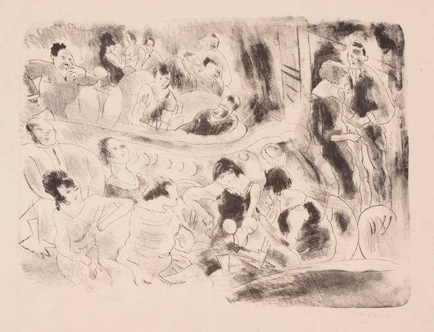 Jules Pascin (French, 1885-1930); Le Music Hall 1926 lithogrph;