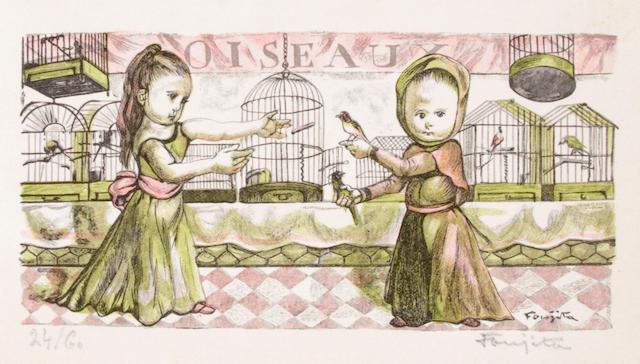 Léonard Tsuguharu Foujita (Japanese/French, 1886-1968); Marchande d'Oiseaux 'Petits Métiers et Gagne-Petit';