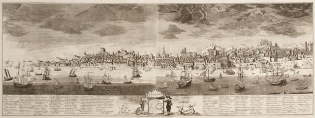 SCHOENEMANN, FRIEDERICH.  Lissabon. Hamburg: Friederich Schoenemann, 1756.