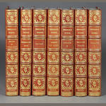 EMERSON, RALPH WALDO. Works. Boston & NY: 1903. 12 vols. Brown morocco over marbled boards.