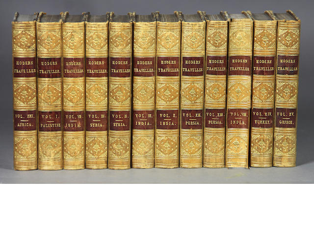 CONDER. The Modern Traveler. London: N.d. 24 vols. only (of 33). 12mo. Calf.