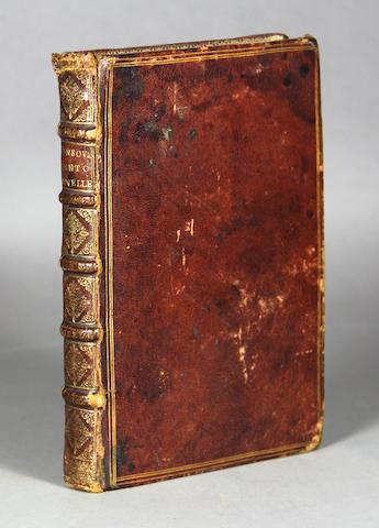 SANSOVINO, FRANCESCO. Cento Novelle Scelte de Piv Nobili Scrittori della Lingva Volgare. Venice: 1598. 8vo. 18th century morocco.