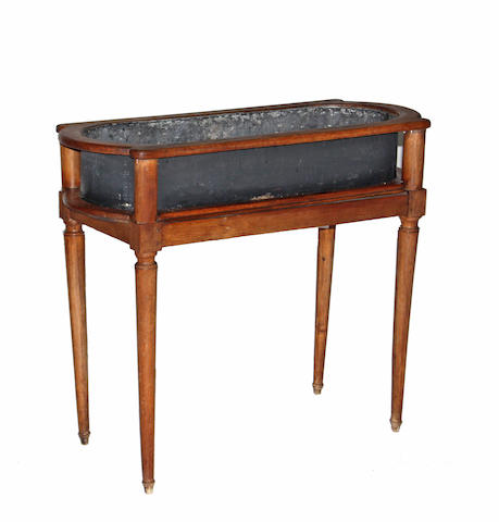 A Directoire walnut jardiniere table late 18th/early 19th century