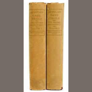 ROOSEVELT, THEODORE. 1858-1919. African Game Trails. An Account of the African Wanderings of an American Hunter-Naturalist. New York: Charles Scribner's Sons, 1910..