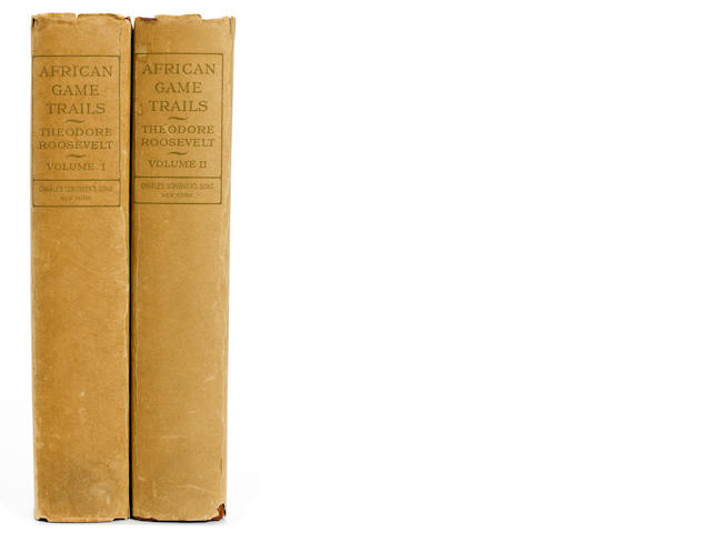 ROOSEVELT, THEODORE. 1858-1919. African Game Trails. An Account of the African Wanderings of an American Hunter-Naturalist. New York: Charles Scribner's Sons, 1910.<BR />