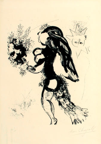 Marc Chagall (Russian/French, 1887-1985); The Offering, from The Lithographs of Chagall Volume I ;
