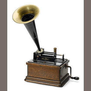 An Edison cyclinder phonograph . Lochmann's . early 20th century