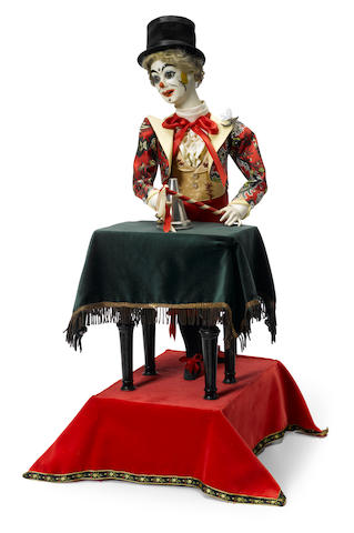 A clown conjuror at a table automaton <BR />Lamber, fourth quarter 19th century