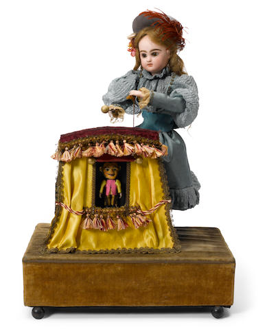 A child puppeteer automaton Renou <BR /><BR />circa 1900 <BR />the head by Jumeau