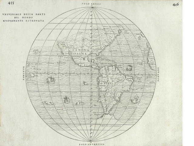 RAMUSIO, GIOVANNI BATTISTA, [& GIACOMO GASTALDI]. Universale della parte del mondo nuovamente ritrovata. [Venice: Guinti, 1556.]