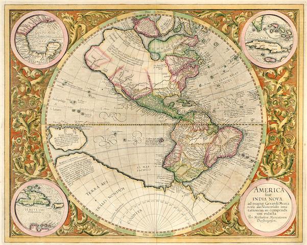 MERCATOR, MICHAEL. 1512-1594. America sive India Nova. Duisberg: [c.1628].