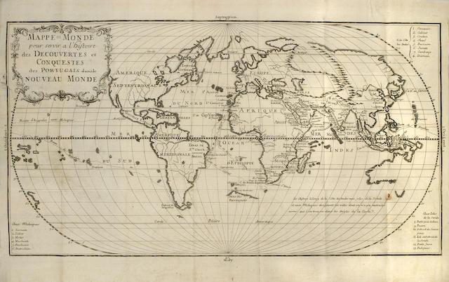 """LAFITAU, JOSEPH FRANCOIS. 1670-1740. Histoire des decouvertes et conquestes des Portugais dans le nouveau monde. Paris, """"se trouve a Amsterdam"""": chez J. Wetstein, & G. Smith, 1736."""