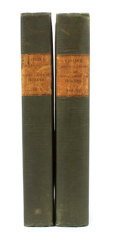CATLIN, GEORGE.  Letters and Notes on the Manners, Customs, and Condition of the North American Indians. London: the author, 1841.