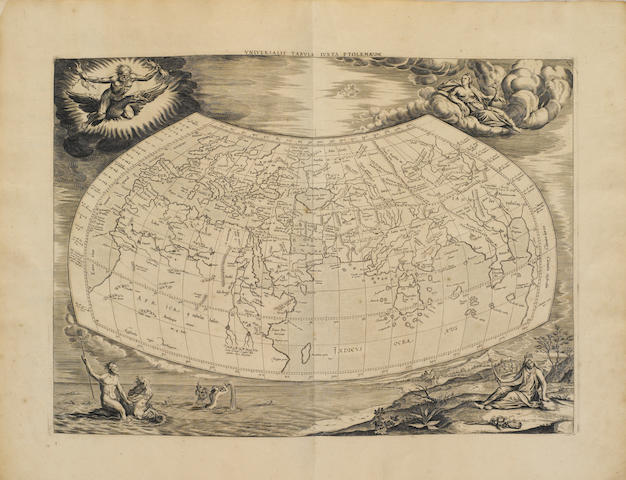 MERCATOR, GERHARD. 1512-1594. PTOLEMAEUS, CLAUDIUS. Tabulae geographicae Orbis Terrarum veteribus cogniti. Utrecht: Francis Halmam and Franeker: Leonard Strik, 1695.