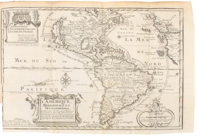 FER, NICOLAS DE. 1646-1720. Introduction a la geographie, avec une description historique sur touttes le parties de la terre.  Paris: le Sr. Danet Gendre de l'Auteur, 1717.<BR />