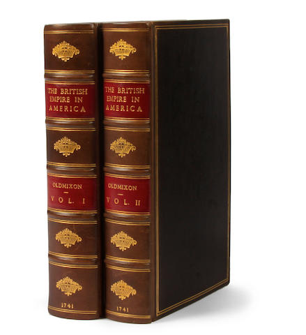 OLDMIXON, JOHN. 1673-1742. The British Empire in America, Containing the History of the Discovery, Settlement, Progress and State of the British Colonies on the Continent and Islands of America ... Second Edition, Corrected and Amended. London: Brotherton, Clarke, Ward, et al., 1741.<BR />