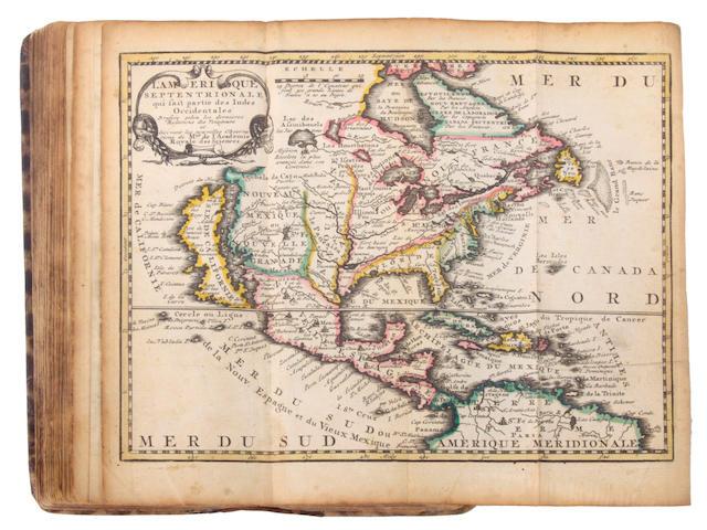 LETH, HENDRIK DE. 1703-1766. ROUSSET DE MISSY, JEAN.  Nieuwe astronomische geographische en historische atlas. Amsterdam: Hendrik de Leth, [1749].<BR />