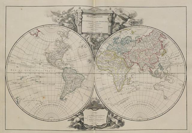 ROBERT DE VAUGONDY, DIDIER. 1723-1786, & GILLES ROBERT DE VAUGONDY. 1688-1766. Atlas Universel. Paris: chez les auteurs et Boudet, 1757-[58].<BR />