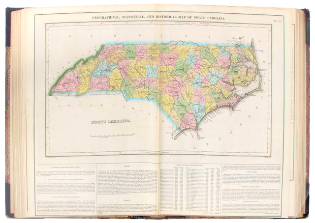 CAREY, HENRY CHARLES. 1793-1879, & ISAAC LEA. 1792-1886.  A Complete Historical, Chronological, and Geographical American Atlas, being a Guide to the History of North and South America, and the West Indies.... Philadelphia: H.C. Carey and I. Lea, 1823.<BR />