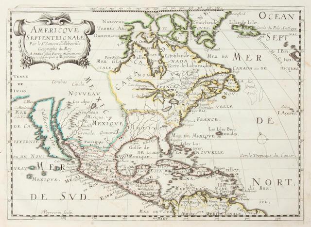 SANSON D'ABBEVILLE, NICHOLAS. 1600-1667. L'Amerique en plusieurs cartes nouvelles, et exactes, &c.  Paris: chez l'autheur, 1662.<BR />