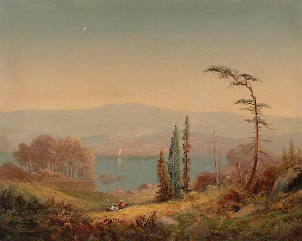 Fredrick A. Butman (American, 1820-1871) Lake Tahoe 11 1/4 x 14 1/4in