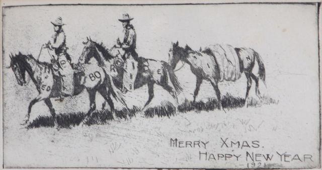 Edward Borein (American, 1872-1945); Edward Borein's Christmas Card;