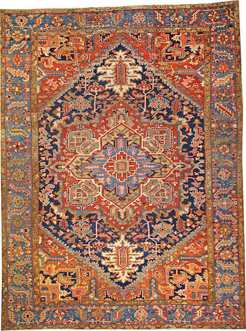 A Heriz carpet Northwest Persia size approximately 10ft. 1in. x 13ft. 6in.