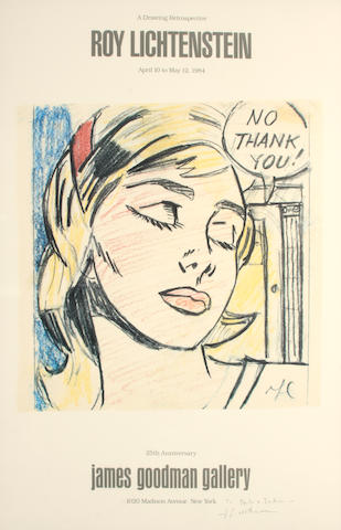 Roy Lichtenstein (American, 1923-1997); Roy Lichtenstein : A drawing retrospective (James Goodman Gallery); Roy Lichtenstein (Galerie Beyeler); (2)