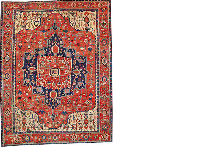 A Serapi carpet  Northwest Persia size approximately 10ft. 3in. x 13ft. 2in.