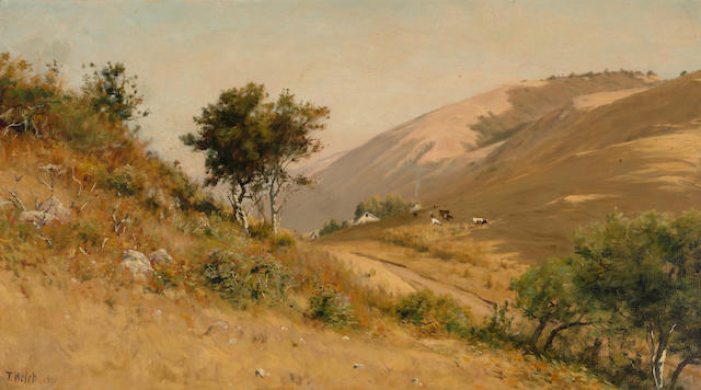 Thaddeus Welch (American, 1844-1919) Morning, Bolinas Road 20 1/4 x 36 1/4in