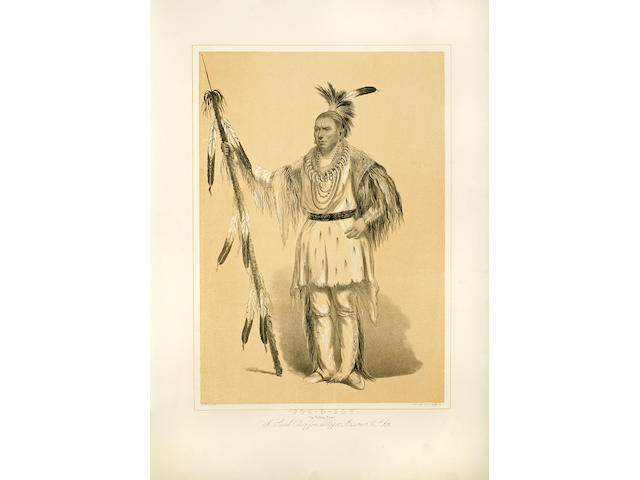 CATLIN, GEORGE. 1796-1872. [North American Indian Portfolio: Hunting Scenes and Amusements of the Rocky Mountains and Prairies of America. London: Chatto & Windus, 1875 or 1877.]