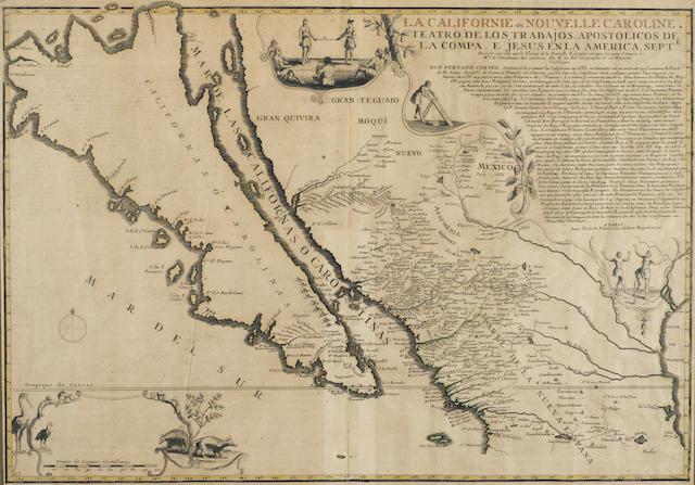 FER, NICOLAS DE. 1646-1720. La Californie ou Nouvelle Caroline.  Paris: [N. de Fer], 1720.<BR />