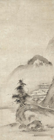 After Noami (1397-1471)<BR />Haboku landscapes