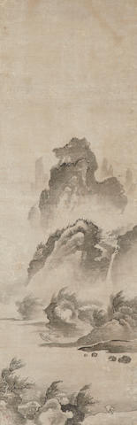 After Bunsei (fl. mid-15th century)  Rainy Landscape  16th/17th century