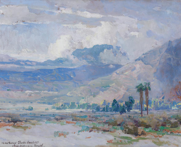 Jack Wilkinson Smith (American, 1873-1949) Desert near Palm Springs, California 16 x 20in