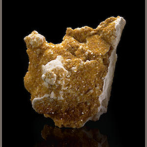 Wulfenite Crystals on Matrix