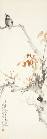 Zhao Shaoang (1905-1998) Bird on Autumn Branches