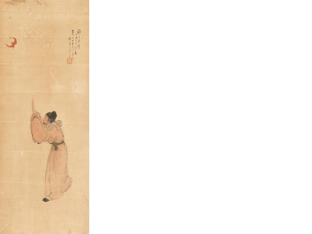 Ju Lian (1828-1904)   Good Fortune Descending