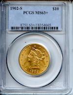 1902-S $10 MS63+ PCGS