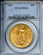 1925 $20 MS64 PCGS