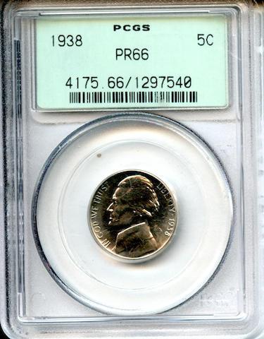 1938 5C PR66 PCGS
