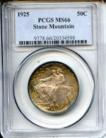 1925 Stone Mountain 50C MS66 PCGS