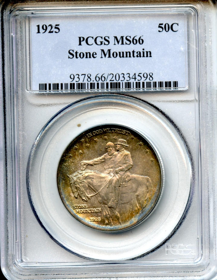 1925 Stone Mountain 50C MS66 PCGS